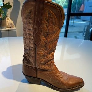 OLD WEST real leather cowboy boots size 5